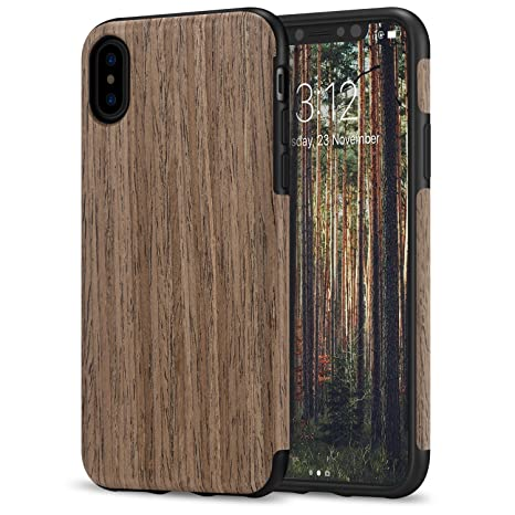 custodia iphone x in legno