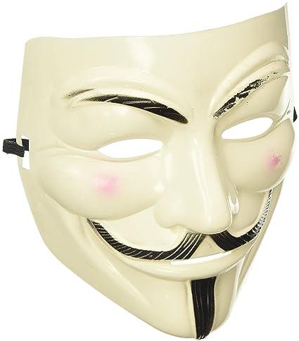 d7e6c7fd9 Amazon.com: V for Vendetta Mask Guy Fawkes Halloween Masquerade Party Face  Costume: Toys & Games