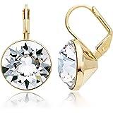 MYJS Bella Statement Earrings Clear Swarovski Crystal Gold Plated zZoNu9so8