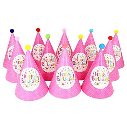 Birthday Party Hats Pink Princess Happy For Adults Girls