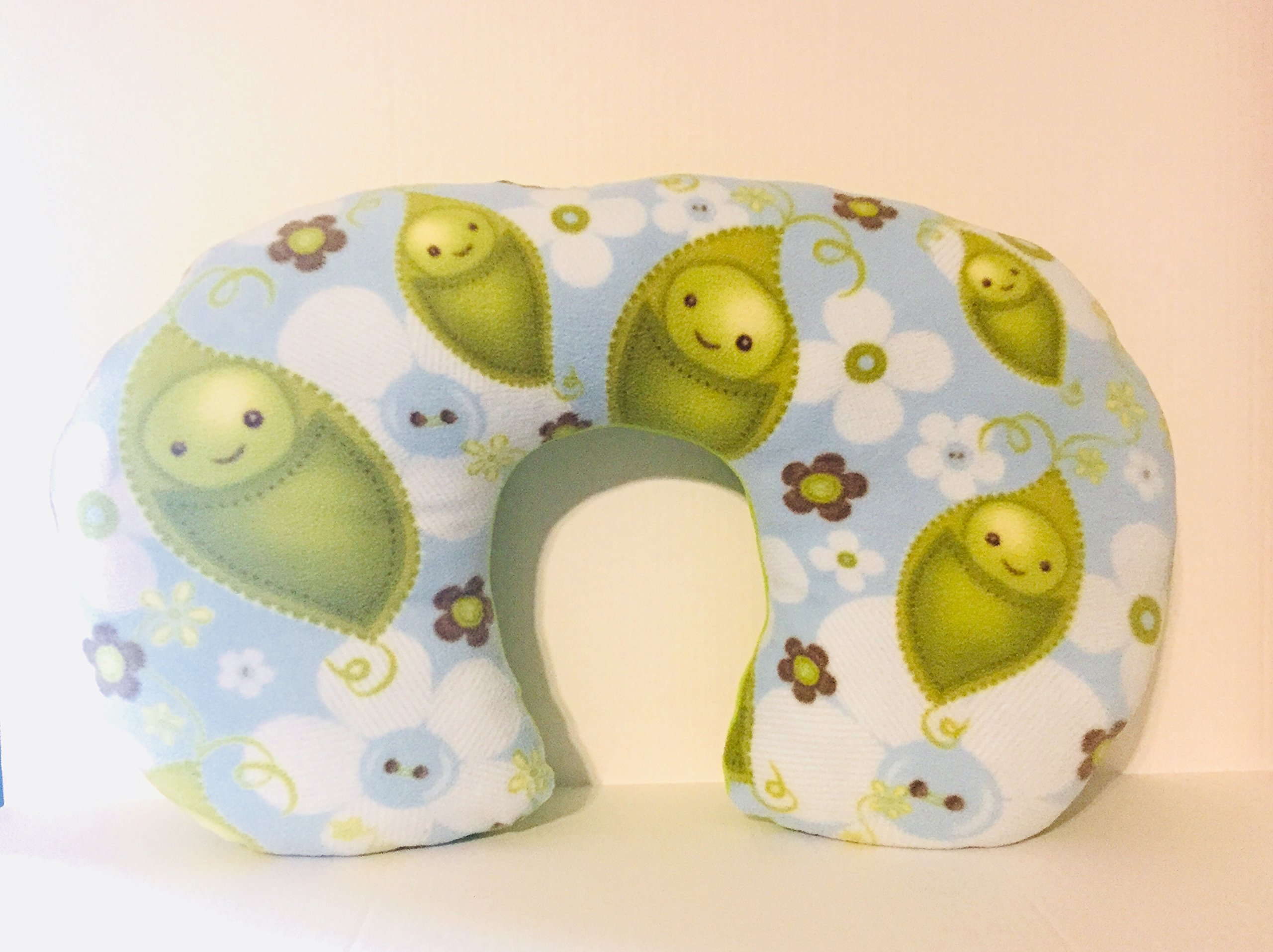 Blue Sweet Pea Nursing Pillow/Baby boy bottle feeding pillow/Best Baby Shower Gifts