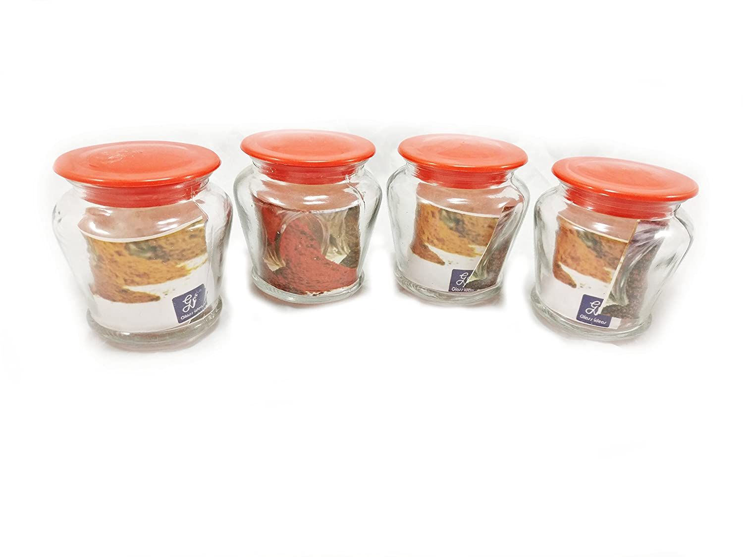 Buy Gupta Glass Spice Jar Set Of 8 Multicolour Sjp1741 Online At Low Prices In India Amazon In
