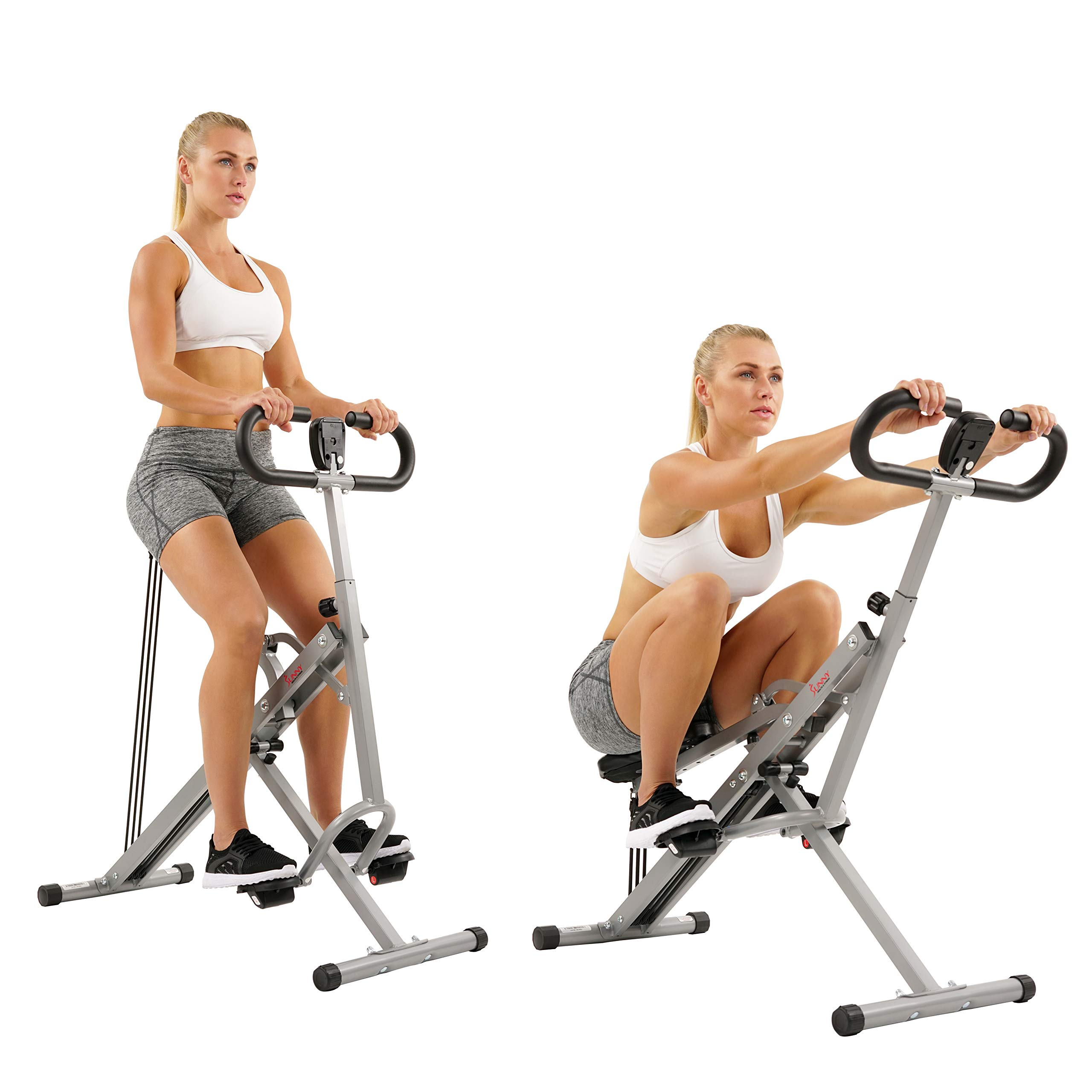 Sunny Health & Fitness Squat Assist Row-N-Ride Trainer for Squat Exercise and Glutes Workout by Sunny Health & Fitness (Image #9)