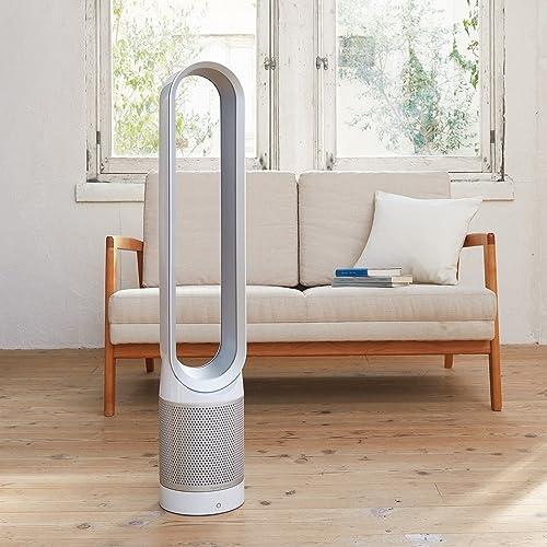Dysonタワーファン(リモコン付ホワイト/シルバー)dysonPureCool(ピュアクール)AM11WSダイソン扇風機