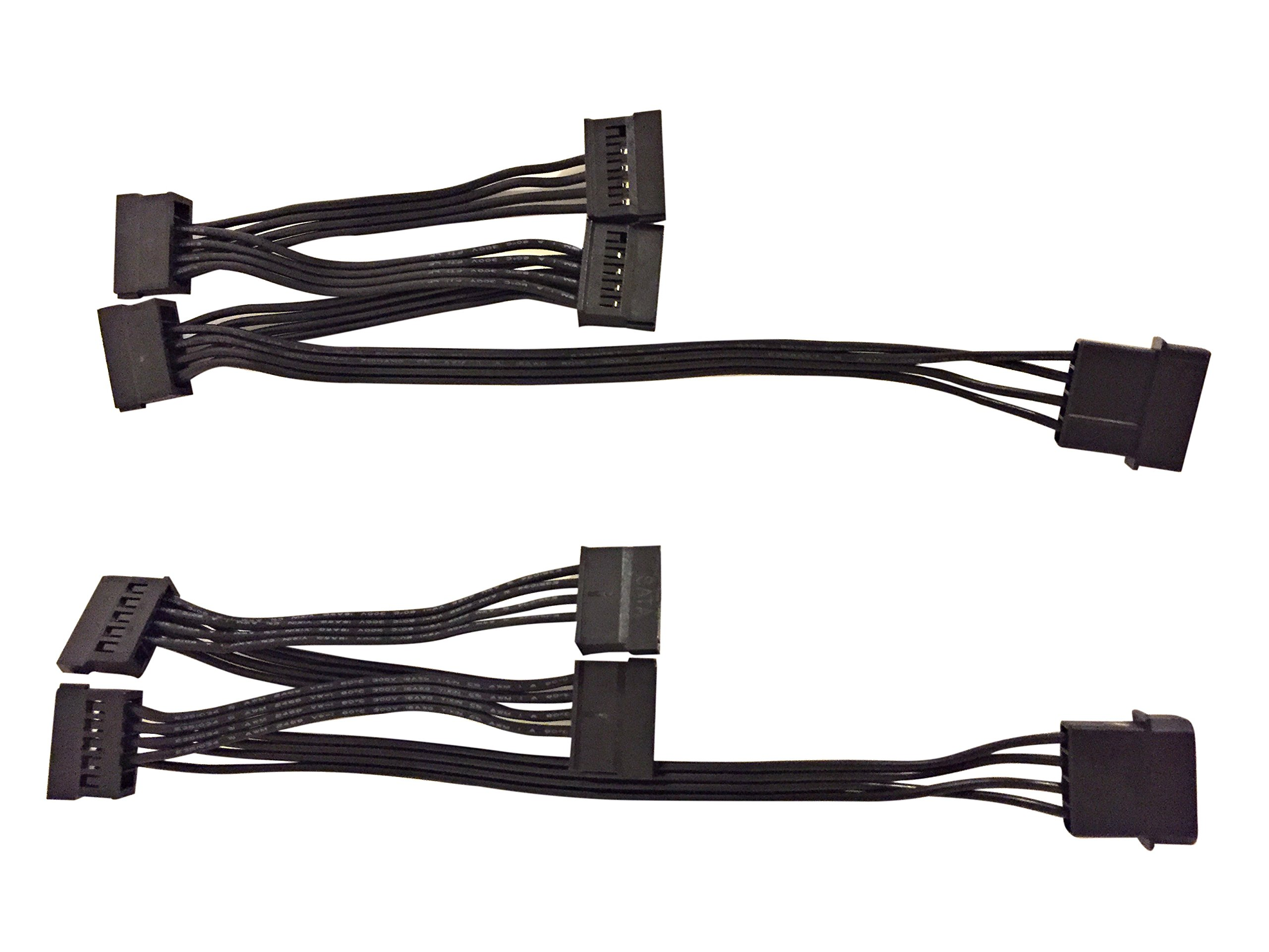 (2 pack) 4 Pin IDE Molex to 4 x 15 Pin SATA Power Y-Cable Adapter Splitter by Eyeboot (Image #4)