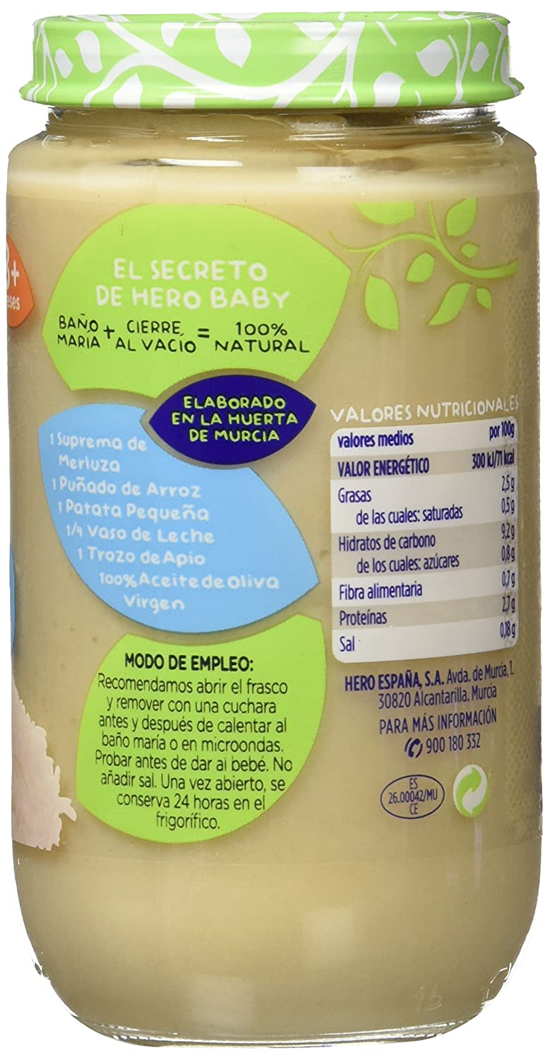 Hero Baby Arroz Blanco con Supremas De Merluza - 235 g: Amazon.es: Amazon Pantry