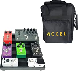 Accel XTA10 Guitar Effetcs Pedal Board Wha// Volume Extension /& Tote Black
