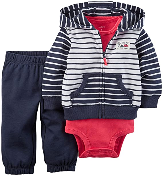 94fa757660e7 Amazon.com  Carter s Baby Boys  3 Piece Cardigan Set 121g416  Clothing