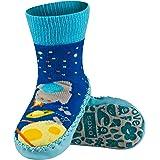 Sevira Kids - Pantofoline antiscivolo con suola in vera pelle, misura 0/-24 mesi, taglia 19/21, disponibili in diversi colori