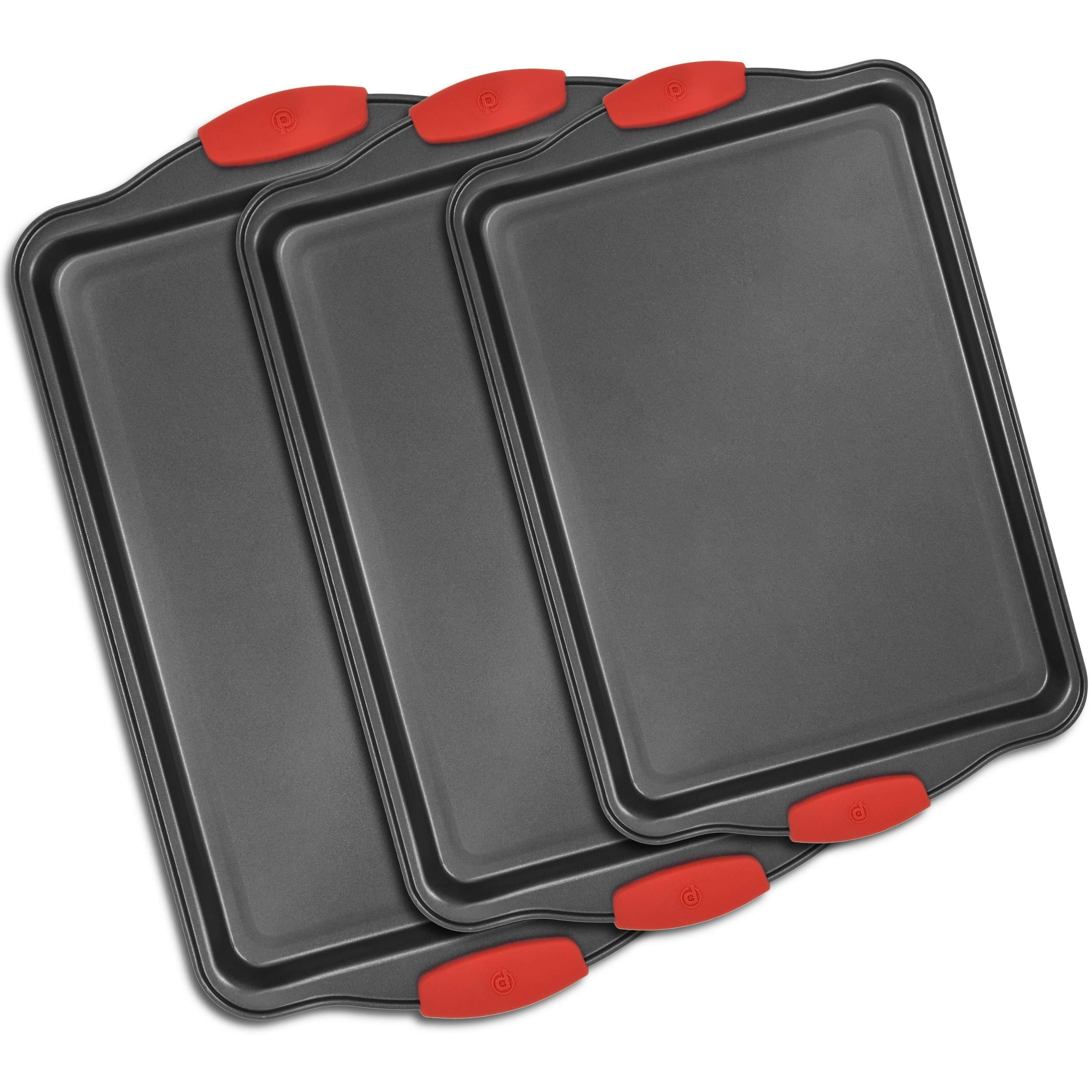 3 Piece Nonstick Bakeware Set Premium Nonstick Cookie
