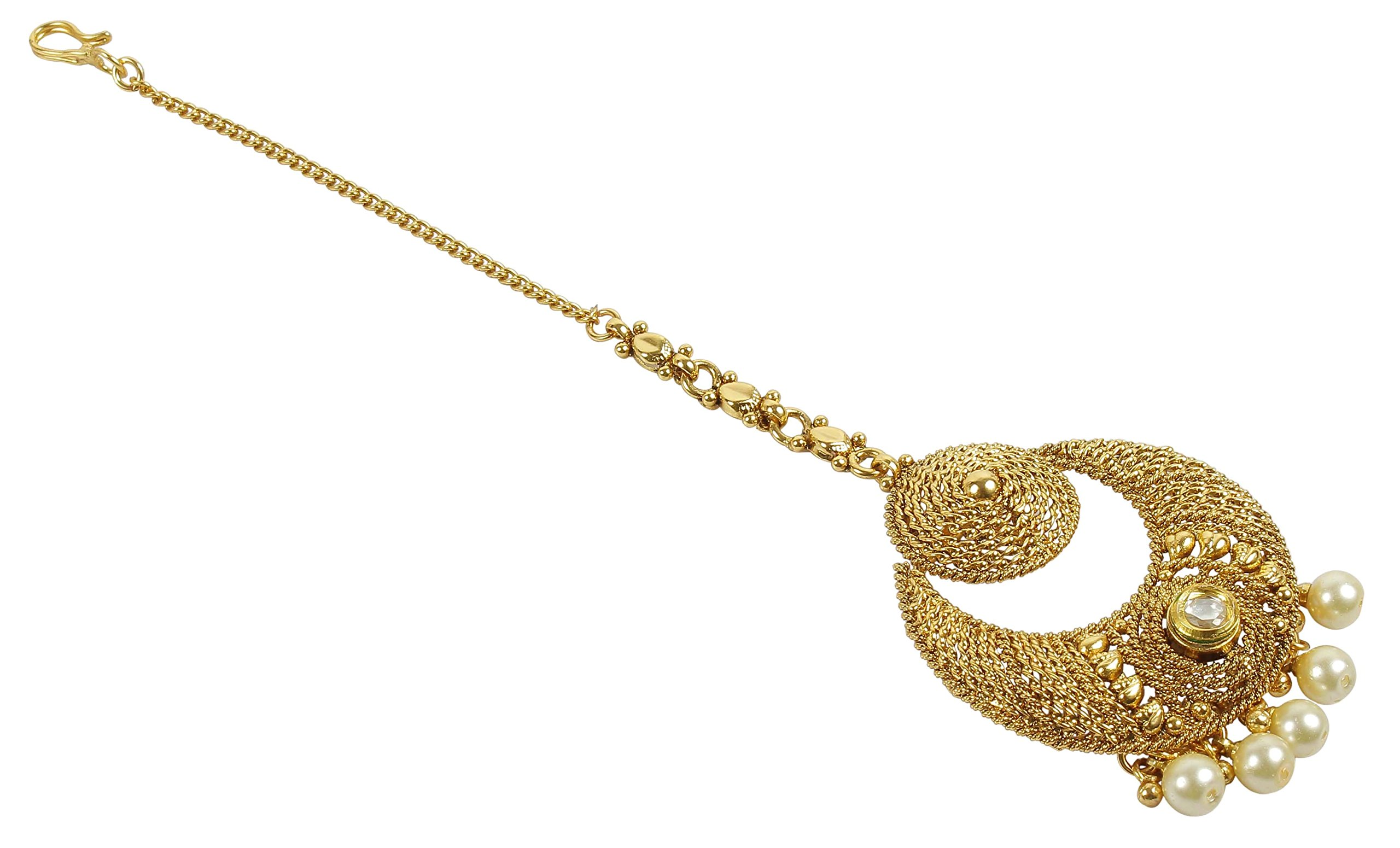 MUCH-MORE Indian Gorgeous Style Party wear Maang Tikka Forehead Traditional Jewelry (2226)