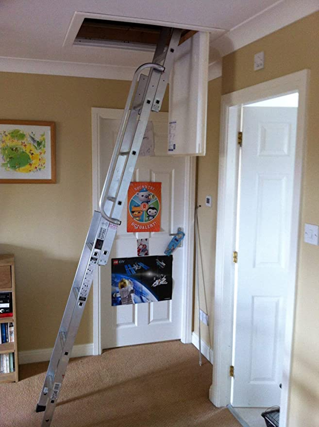 no stock till April YOUNGMAN EASIWAY EASYWAY LOFT LADDER 3 SECTION ALUMINIUM