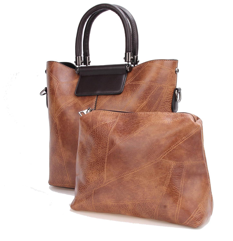 Womens Fashion Handbags Set Designer Tote Bag Crossbody Shoulder Bag Top Handle Satchel Purse 2//3 Pcs Set