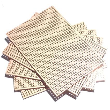 utronix copper strip prototyping veroboard 64x95mm (pack of 5)
