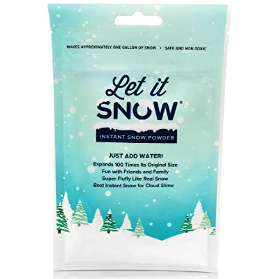 Let it Snow Instant Snow Powder for Slime - Made in The USA Premium Fake Snow for Cloud Slime, Sensory Toy and Holiday Snow Decorations: Toys & Games