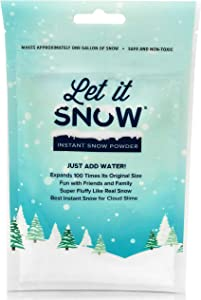 Let it Snow Instant Snow Powder for Slime - Made in The USA Premium Fake Snow for Cloud Slime, Sensory Toy and Holiday Snow Decorations