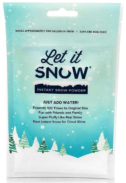 amazon com let it snow instant snow powder for slime premium fake