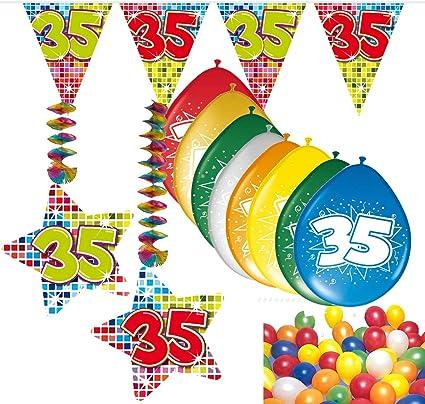 Wimpelkette HAPPY  B DAY  10m   Zahl 30  Bunte Punkte  Geburtstag Deko Party Neu