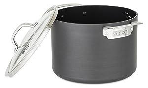 Viking 40051-0428 Hard Anodized Nonstick Stock Pot, 8 Quart, Gray