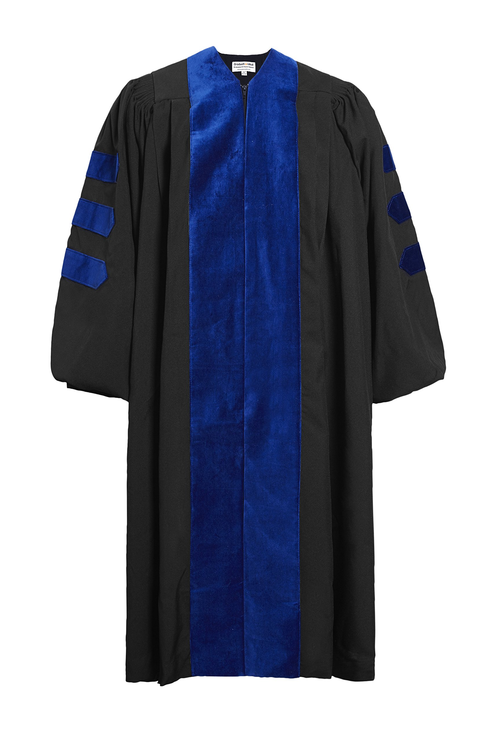 GraduationMall Unisex-adult's Deluxe Doctoral Graduation Gown-Phd Blue Trim 63(6'6''-6'8'')