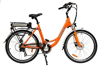 PEDECO 56027 Bicicleta Eléctrica Plegable Calle, Naranja, Grande/Tamaño: 26