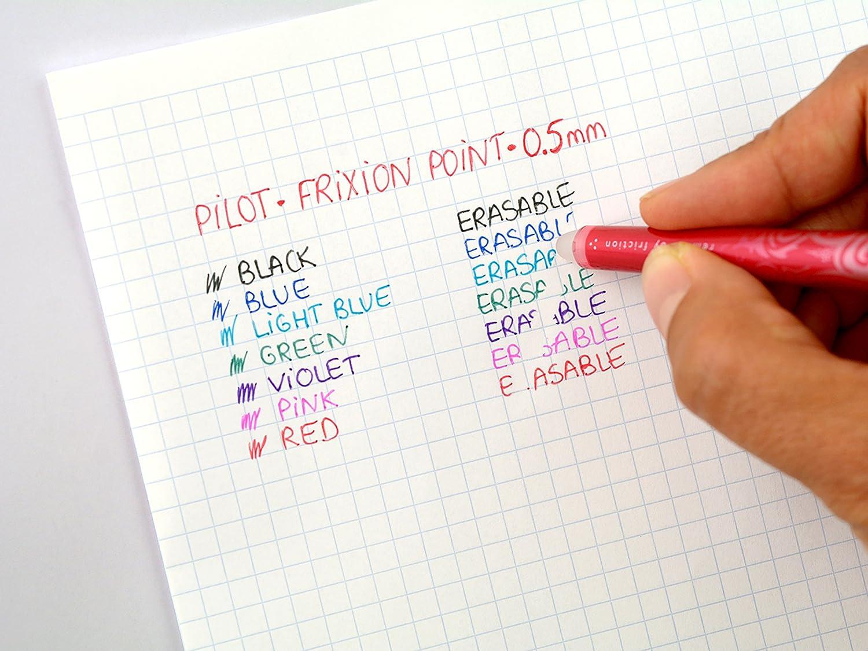 Rouge Stylo Gel Roller Effa/çable 2 Bleus Pointe Fine Vert Lot de 5 Stylos Roller FriXion Point Pilot Noir