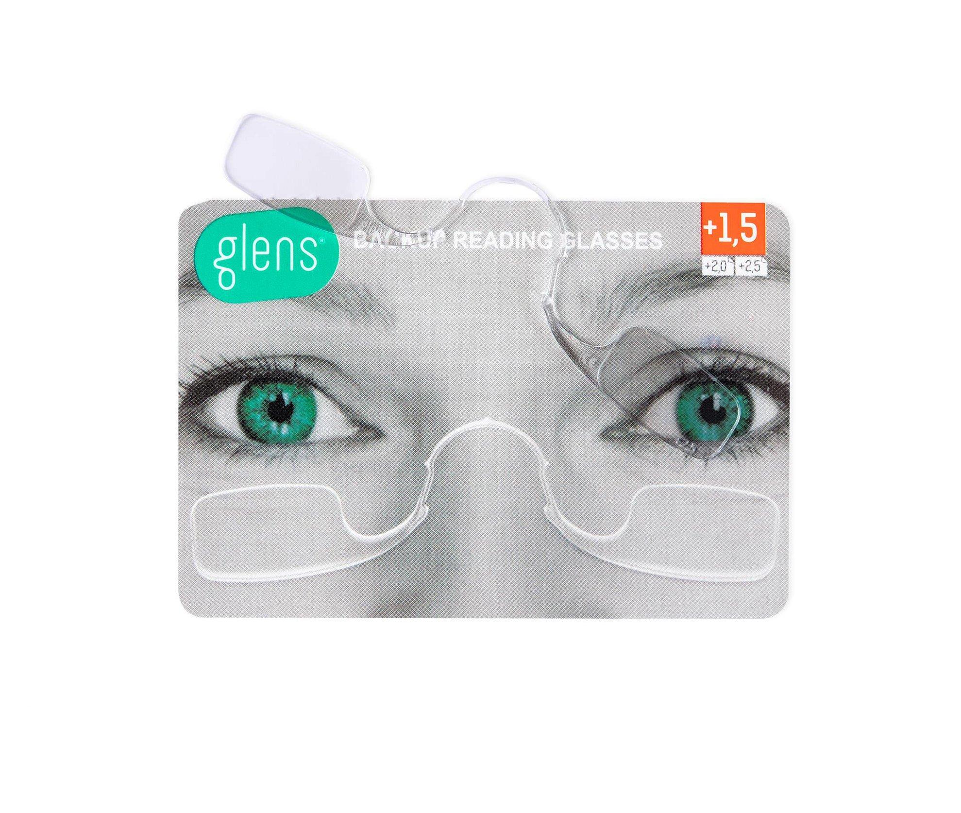 bba9d6f2aa15 Amazon.com  Glens Backup Reading Glasses Correction Strength (+1.5 ...