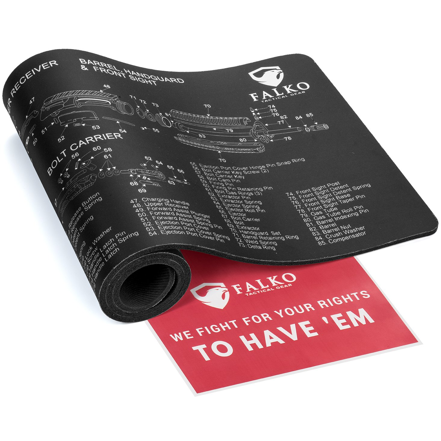 Gun Cleaning Mat (36'' x 12'') - Double Thickness Extra Protective Pad By Falko