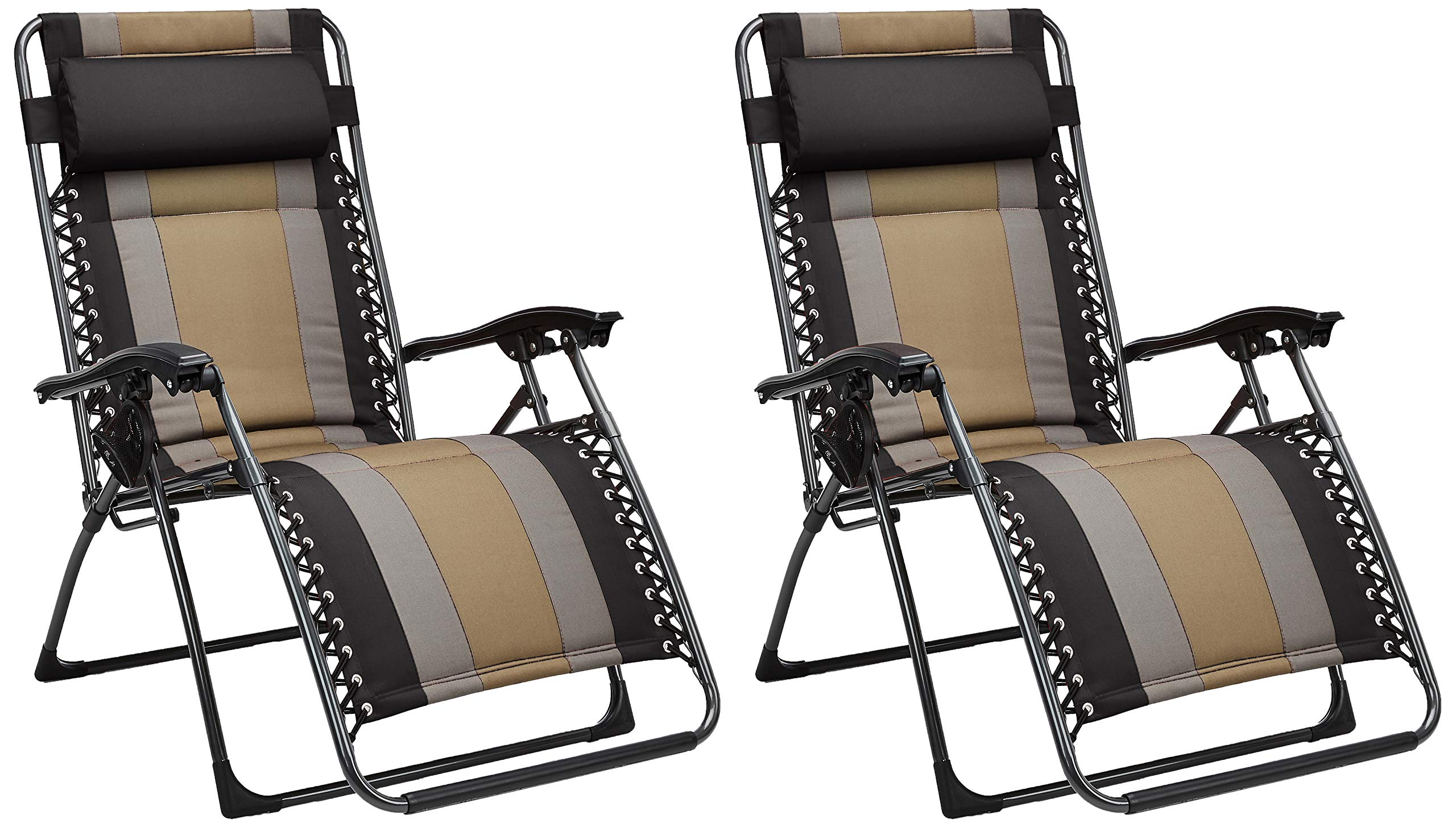 AmazonBasics Padded Zero Gravity Chair- Black, 2 Pack by AmazonBasics