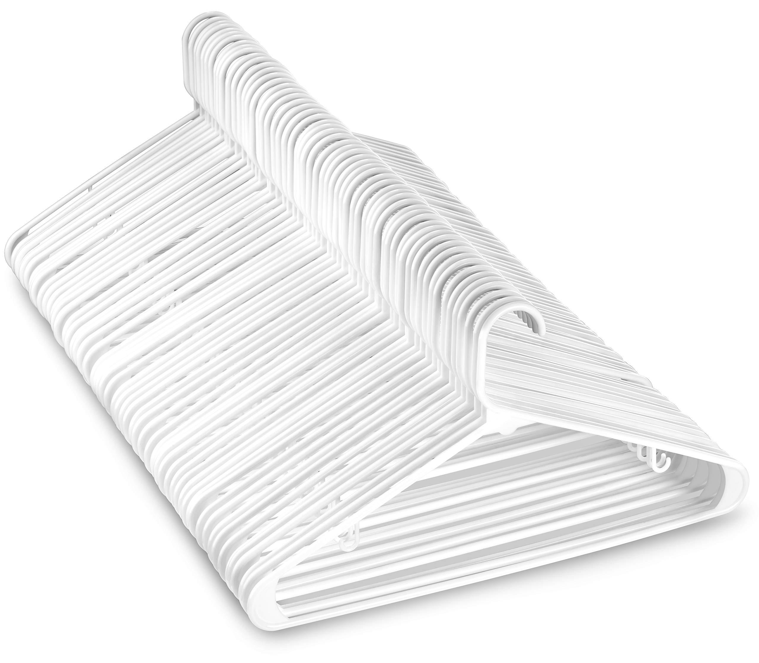 Hangon Combo Set  Plastic Shirt/&Pants Hangers 17 Inch /& 12 Inch Black 30 Pack
