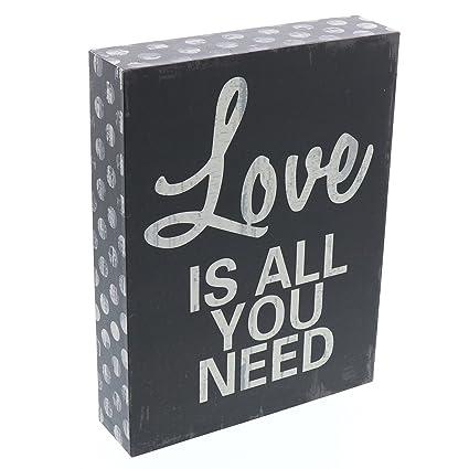 Amazon.com: Barnyard Designs Love Is All You Need Wooden Box Wall ...