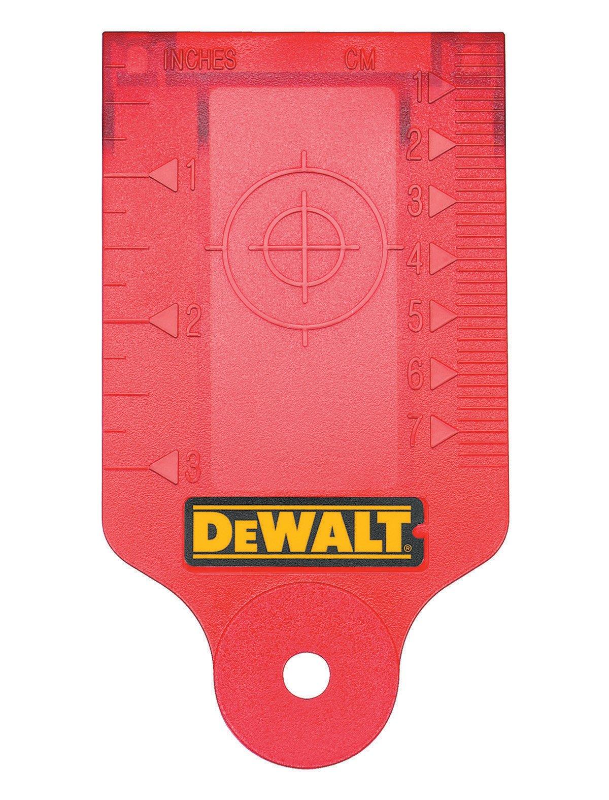 DEWALT DW0730 Laser Target Card