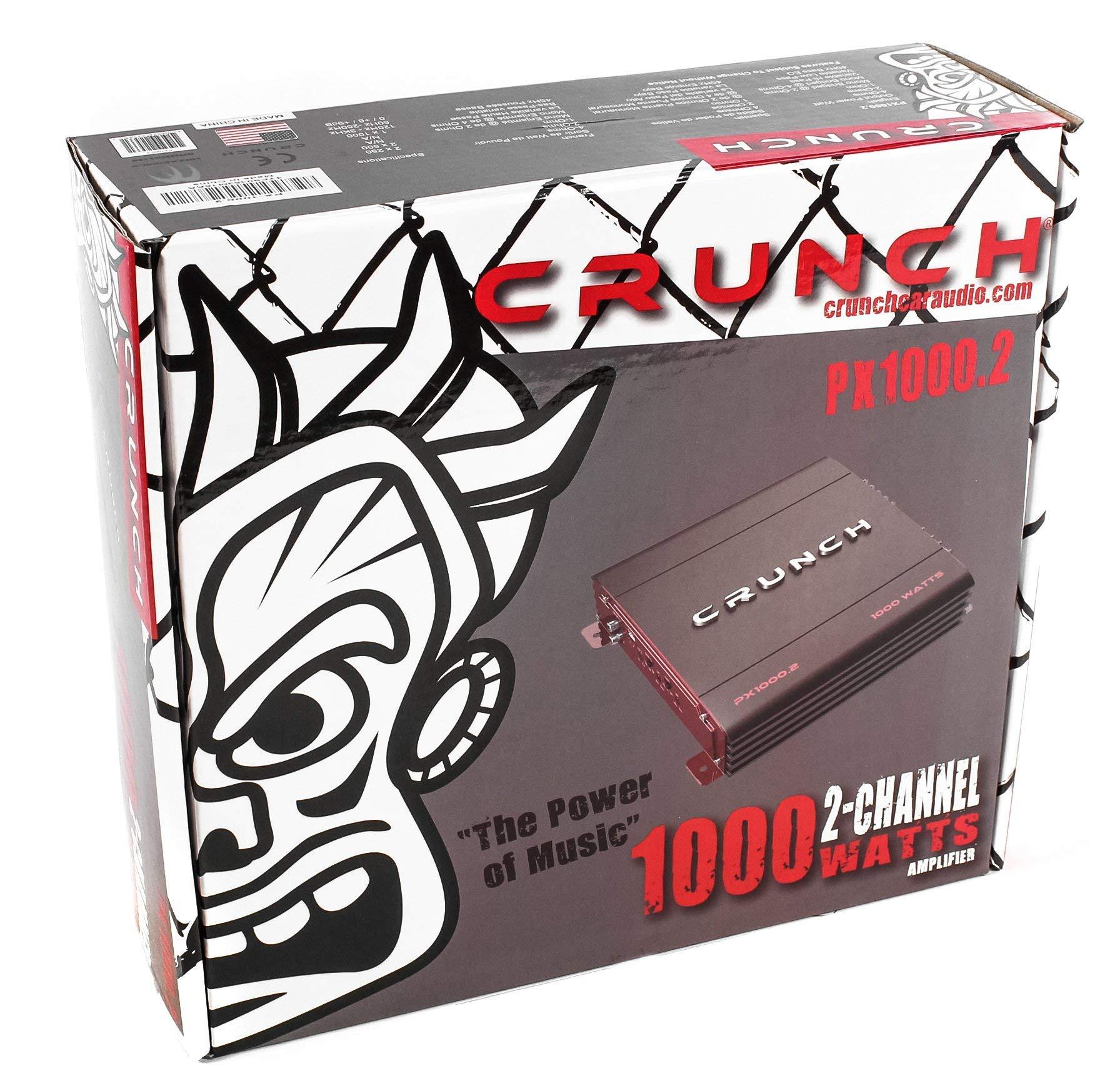 Crunch Px 10002 2 Channel 1000 Watt Amp A B Car Stereo Amplifier Audio Installation Wiring Kits Kit Aks8 Dual Amplifiers Electronics Tibs