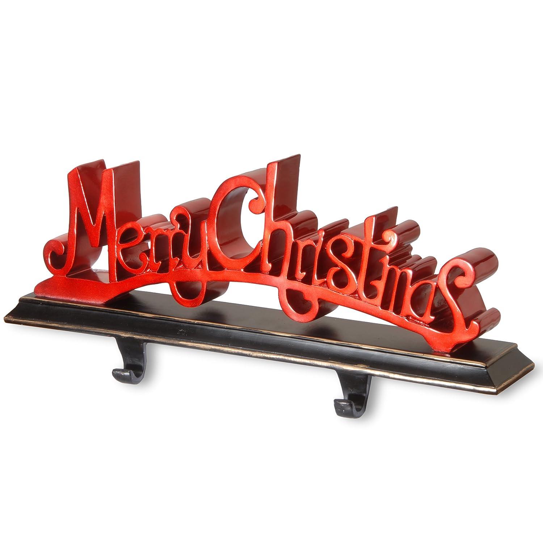 National Tree 18 Inch PolyresinMerry Christmas Stocking Holder (RAC-E90277R)
