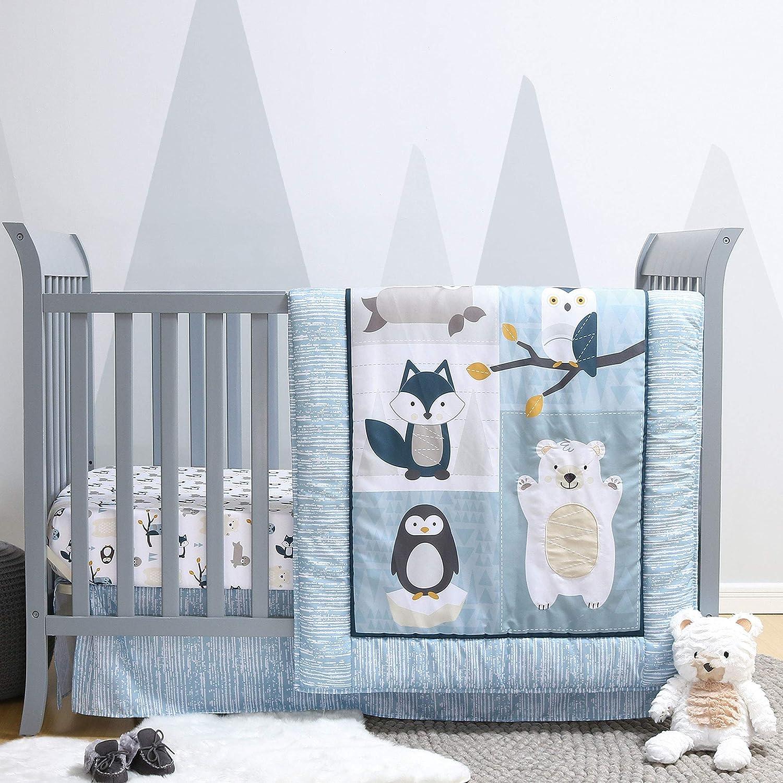 Nordic Wonder 4 Piece Arctic Baby Crib Bedding Set