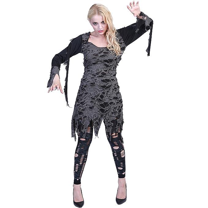 Eraspooky Women Halloween Zombie Living Dead Costume