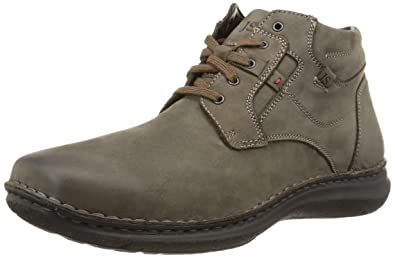 eb1342f3c4930 Josef Seibel Mens 43340 PL81 High Top Trainers Grey Size: 6.5 UK ...