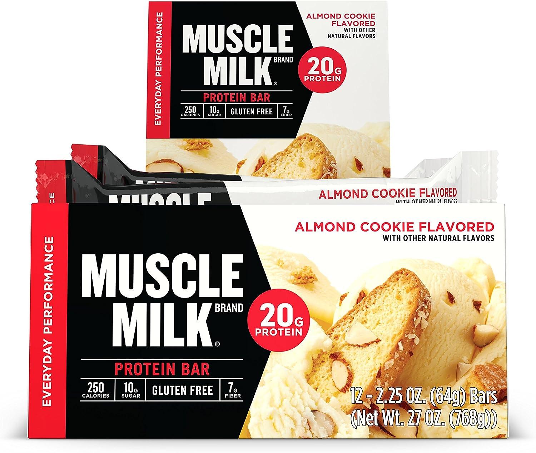 Cytosport Muscle Milk Red Bar, Sabor Almond Cookie - 12 Unidades