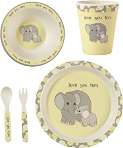 Precious Moments 5 Elephant Gift Mealtime Feeding Set, One Size, Multi