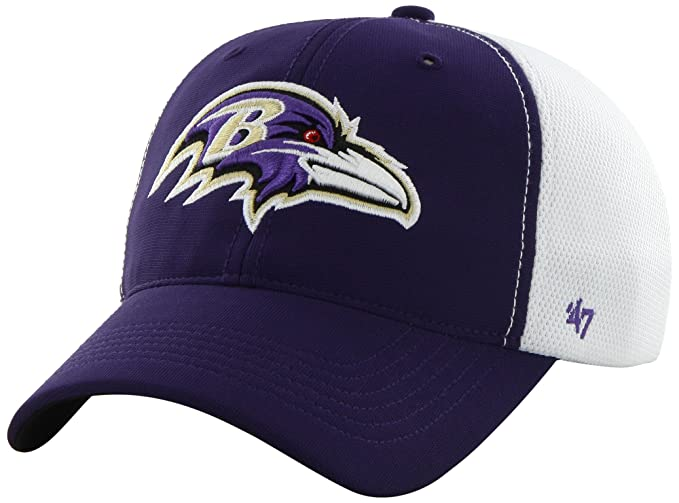 8fdca5bbea2401 NFL Baltimore Ravens '47 Brand Draft Day Closer Stretch Fit Hat, Purple, One