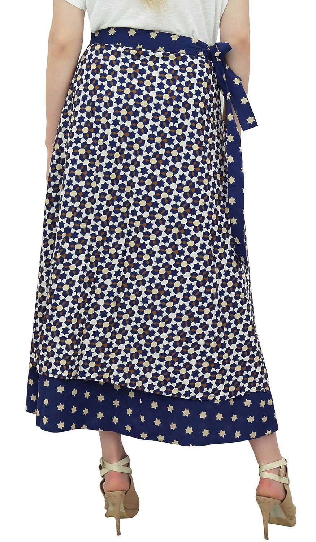 Phagun Indias Usan Estrella Impreso Algodón Reversible Azul Marino ...