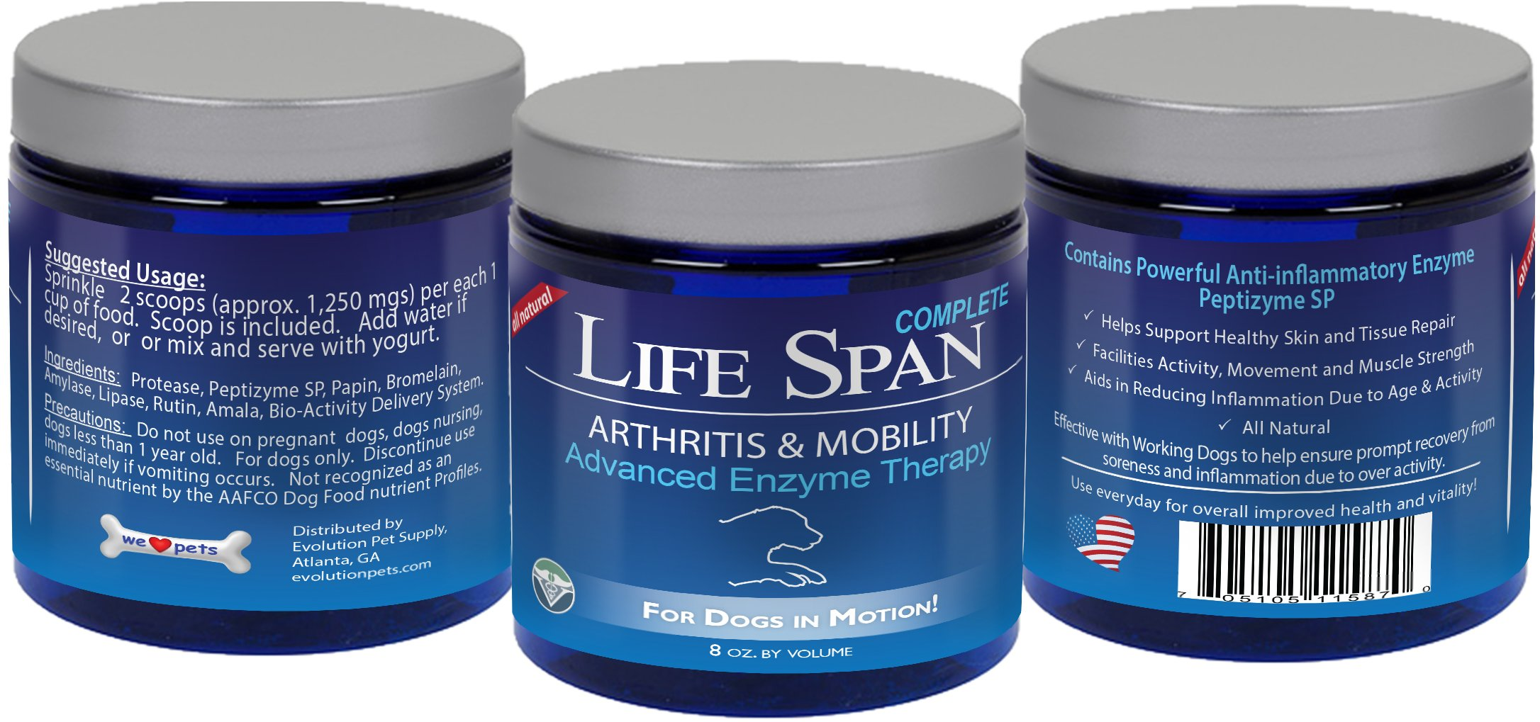 LifeSpan Systemic Enzymes for Dog Arthritis, Mobility, and Pain Relief