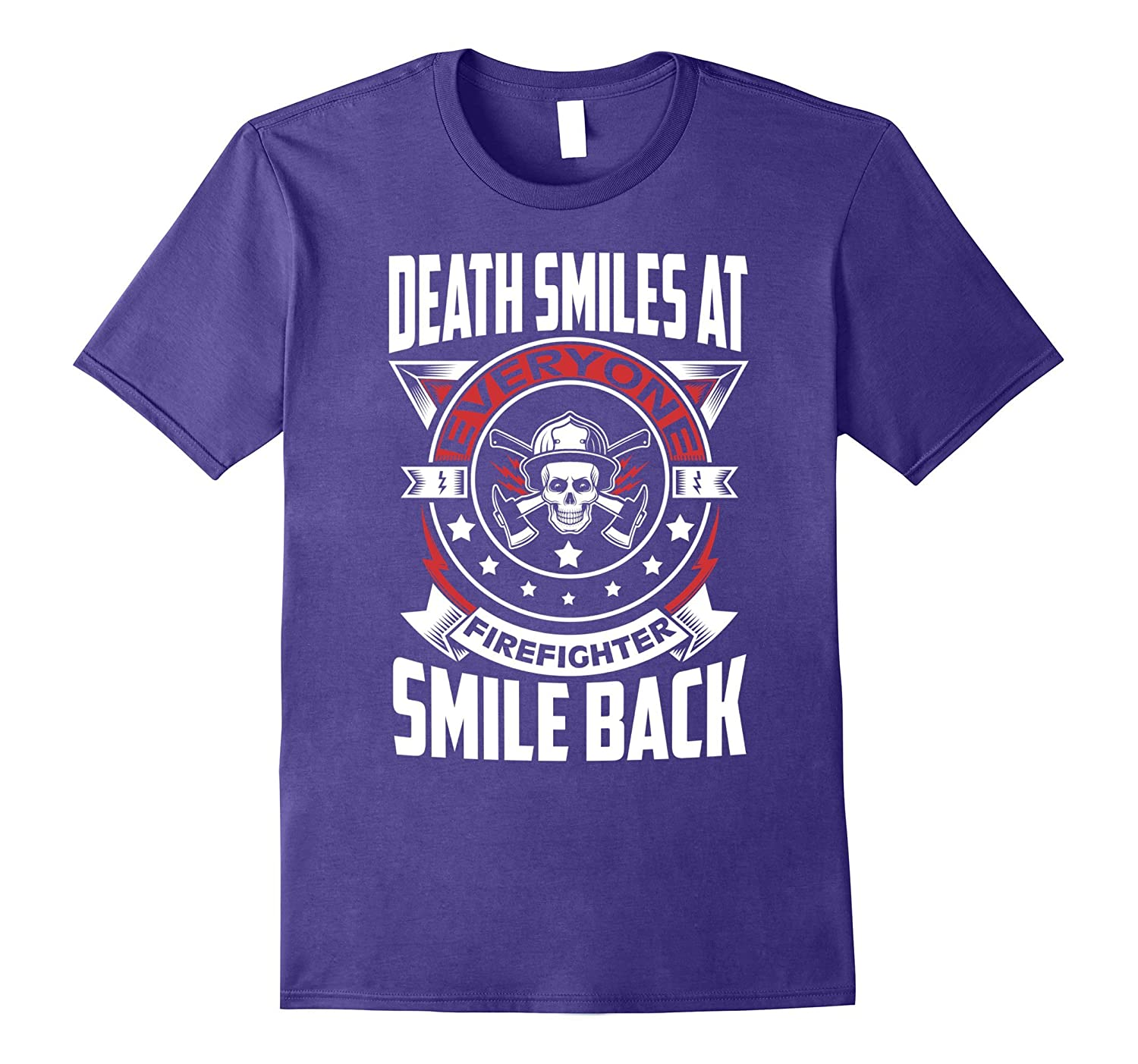 Firefighter Smiles Back At Death T Shirt-T-Shirt