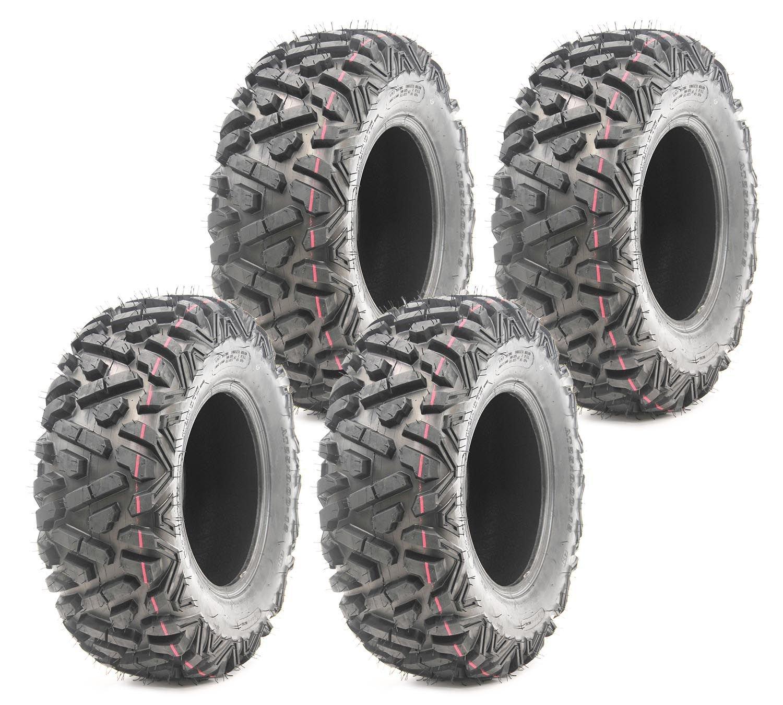 Set of 4 New ATV Tires AT 27x10-12 Front /& 27x12-12 Rear //6PR P350-10170//10175