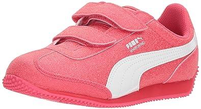 e143287afc79 PUMA Girls  Whirlwind Glitz V Kids Sneaker