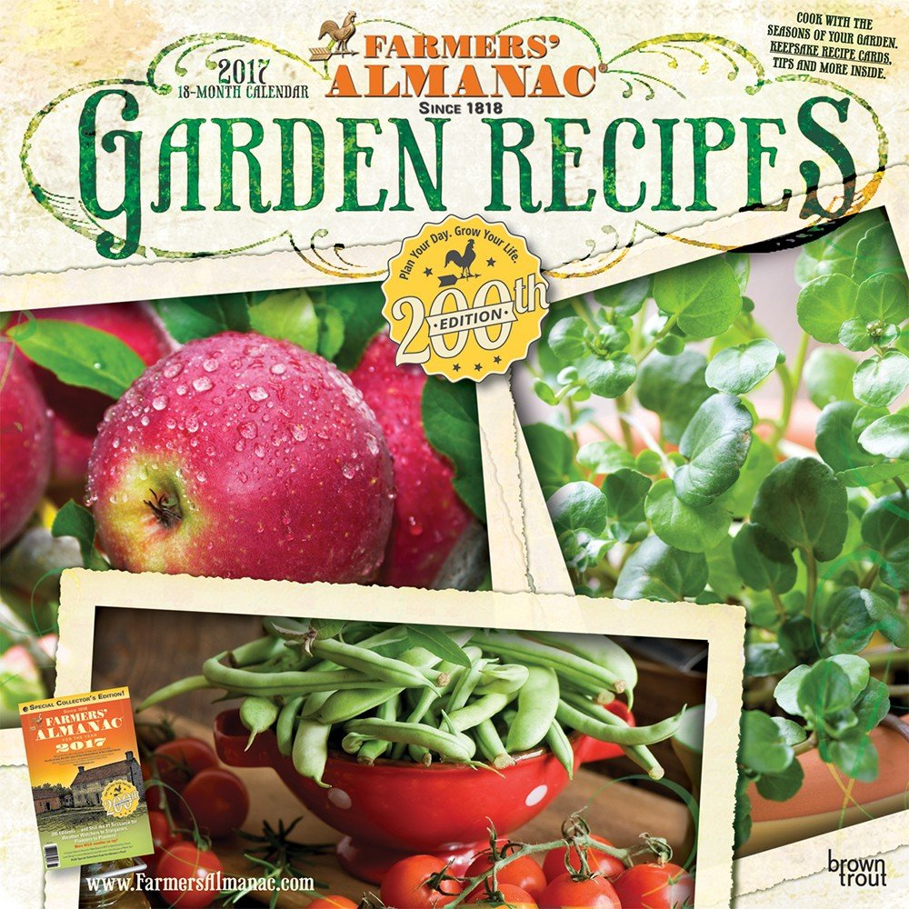 Amazon.com : 2017 Farmers Almanac Garden Recipes Wall Calendar : Office  Products
