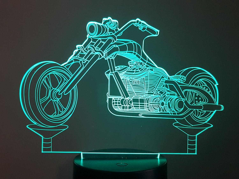 3D-LAMPE Motorrad-Chopper