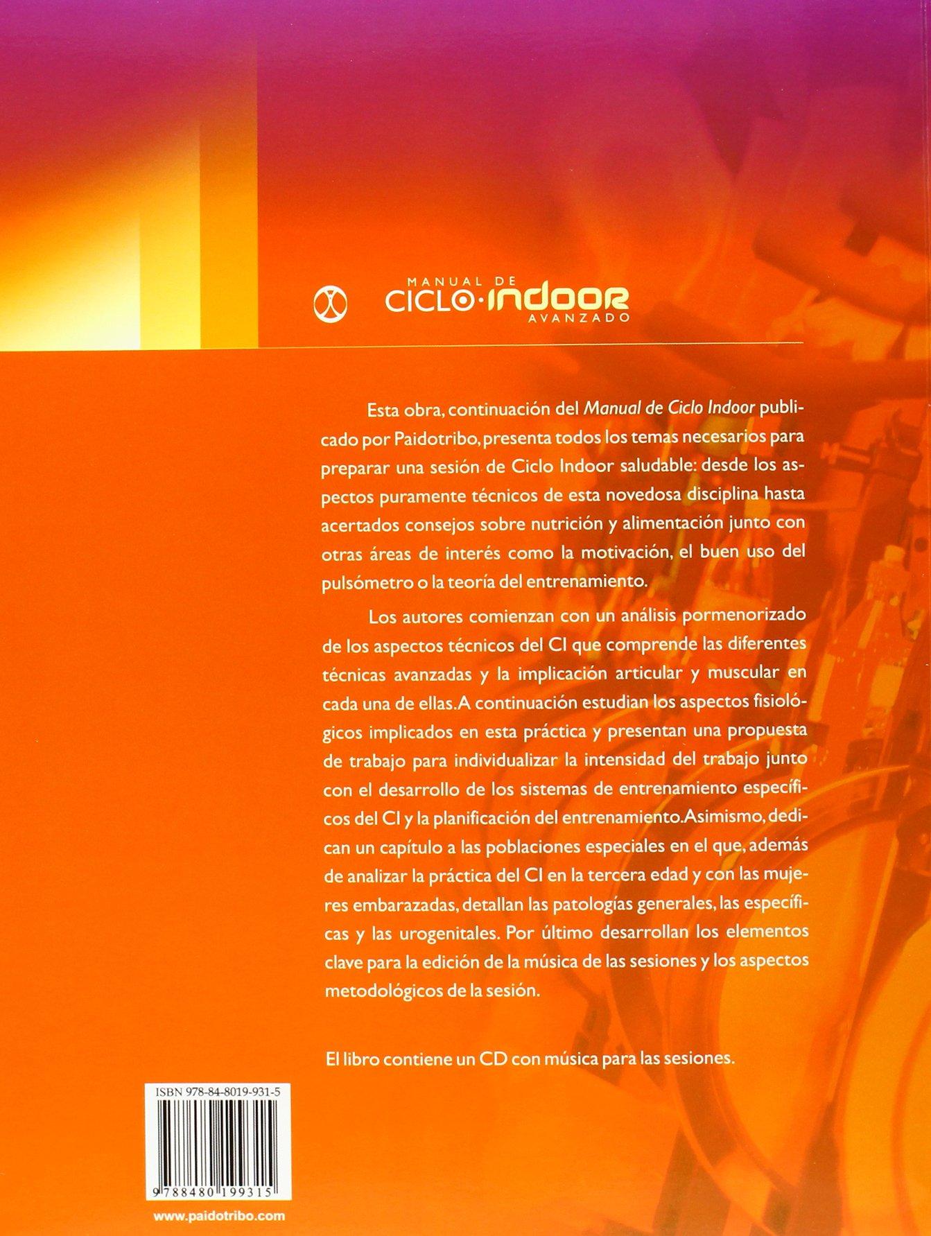 Manual de ciclo indoor avanzado. Color- Libro+CD Deportes: Amazon ...