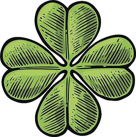 Four-leaf clover Lucky Clover Lucky Leaf Decal Sticker Car Vinyl pick color size