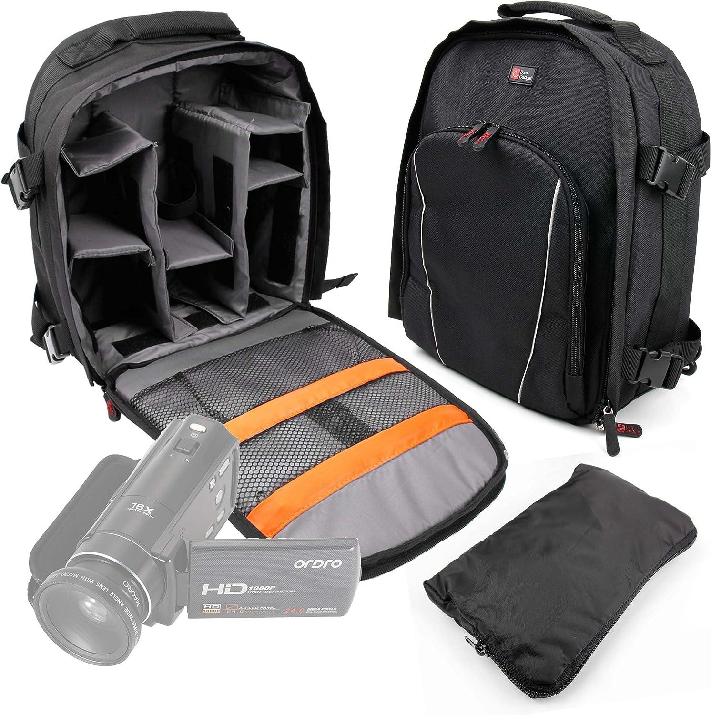 Funda Impermeable DURAGADGET Mochila para Videoc/ámara Andoer HDV-Z20 Andoer ORDRO HDV-Z8 Besteker Mini JVC GZ-RX615 Resistente Al Agua